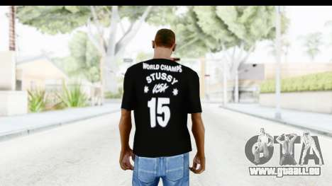 Stussy Black T-Shirt für GTA San Andreas zweiten Screenshot