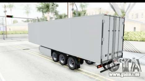 Trailer ETS2 v2 Old Skin 2 pour GTA San Andreas sur la vue arrière gauche