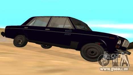 VAZ-2106 de GVR de la première version pour GTA San Andreas vue de droite