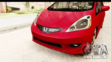 Honda Fit Sport 2009 für GTA San Andreas obere Ansicht