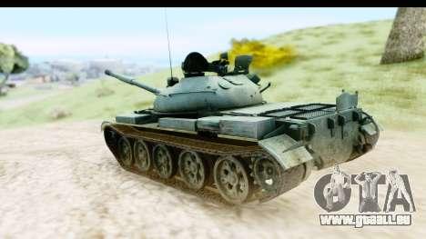 T-62 Wood Camo v1 pour GTA San Andreas laissé vue
