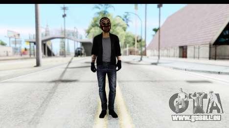 Payday 2 - Bodhi with Mask pour GTA San Andreas deuxième écran