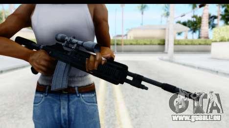 GTA 5 Vom Feuer Marksman Rifle für GTA San Andreas dritten Screenshot