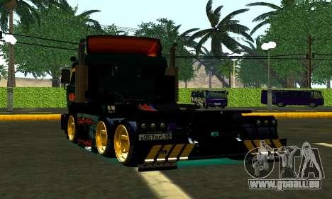 KamAZ 65115 TURBO DIESEL pour GTA San Andreas sur la vue arrière gauche