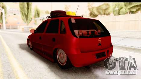 Opel Corsa pour GTA San Andreas laissé vue