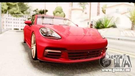 Porsche Panamera 4S 2017 v5 pour GTA San Andreas vue de droite