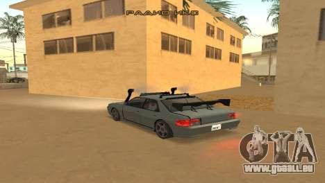 Super Sultan pour GTA San Andreas sur la vue arrière gauche