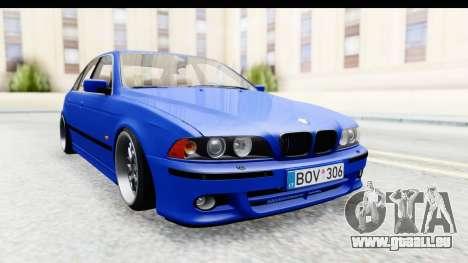 BMW 525i E39 M Tech pour GTA San Andreas sur la vue arrière gauche