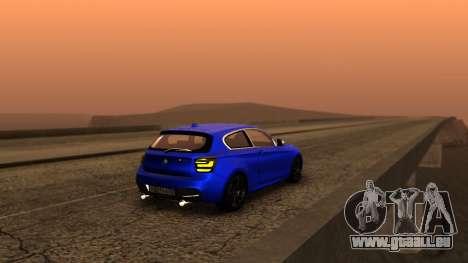 BMW M135i ISlaite Edition pour GTA San Andreas laissé vue