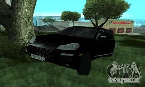 Porsche Cayenne pour GTA San Andreas sur la vue arrière gauche