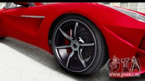 GTA 5 Dewbauchee Seven 70 IVF für GTA San Andreas Rückansicht