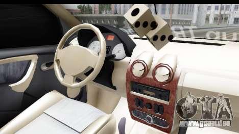 Dacia Logan Coil pour GTA San Andreas vue intérieure