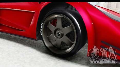 GTA 5 Progen Tyrus pour GTA San Andreas vue arrière