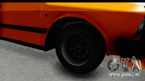 Zastava Yugo Koral 55 Race für GTA San Andreas Rückansicht