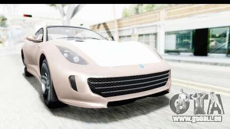 GTA 5 Grotti Bestia GTS with MipMap für GTA San Andreas