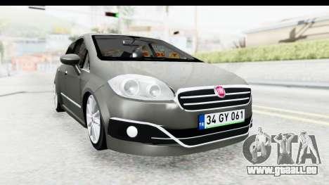 Fiat Linea 2015 v2 Wheels für GTA San Andreas rechten Ansicht