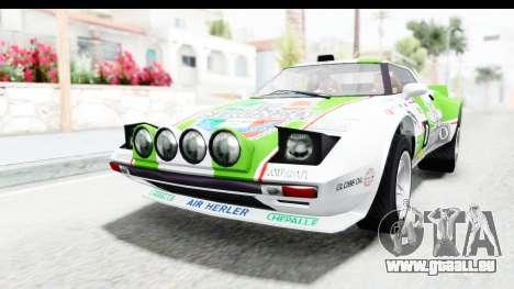GTA 5 Lampadati Tropos Rallye No Headlights pour GTA San Andreas vue de dessous