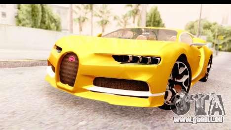 Bugatti Chiron 2017 v2.0 Updated für GTA San Andreas rechten Ansicht