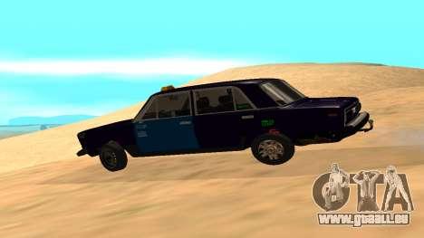VAZ-2106 de GVR de la première version pour GTA San Andreas laissé vue