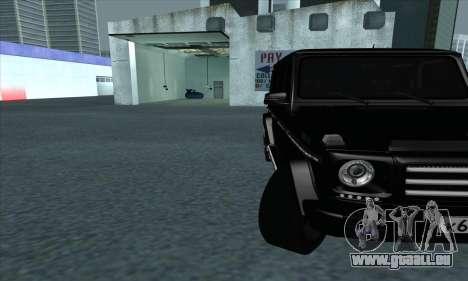 Mercedes-Benz G55 pour GTA San Andreas vue intérieure
