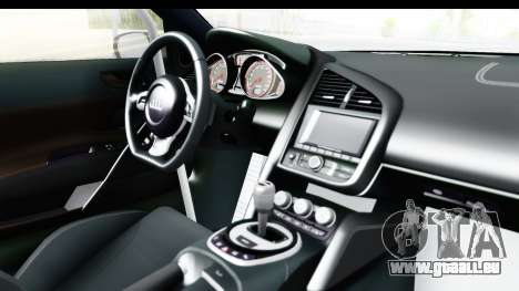 Audi R8 V10 Plus 5.2 FSi 2013 LB Perfomance für GTA San Andreas Innenansicht