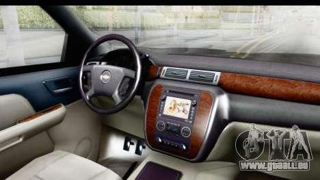 Chevrolet Silverado Duramax 2012 pour GTA San Andreas vue intérieure