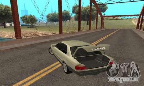 BMW 730 pour GTA San Andreas vue de dessus