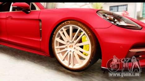 Porsche Panamera 4S 2017 v5 für GTA San Andreas Rückansicht