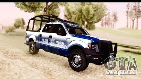 Ford F-150 Policia Federal pour GTA San Andreas vue de droite