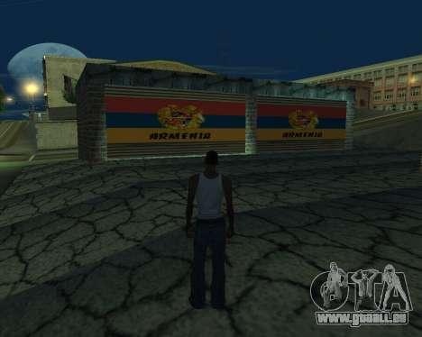 Nouveau garage de l'Arménie pour GTA San Andreas troisième écran