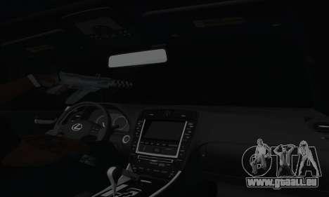 Lexus IS-F pour GTA San Andreas vue de côté
