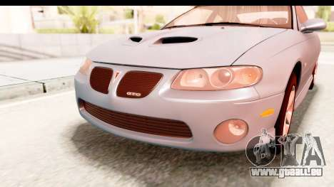 Pontiac GTO 2006 pour GTA San Andreas vue de côté
