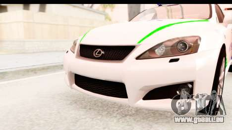 Lexus IS F PDRM für GTA San Andreas Seitenansicht