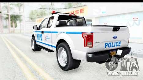 Ford F-150 Police New York pour GTA San Andreas laissé vue