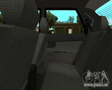 Lada Priora Arménie pour GTA San Andreas vue de dessus