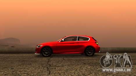 BMW M135i ISlaite Edition pour GTA San Andreas sur la vue arrière gauche