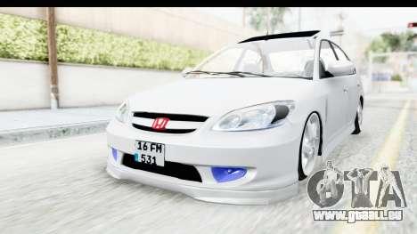 Honda Civic Vtec für GTA San Andreas