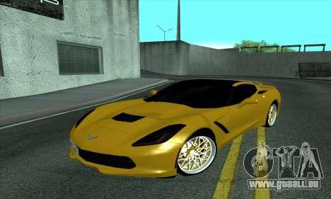 Chevrolet Corvette pour GTA San Andreas
