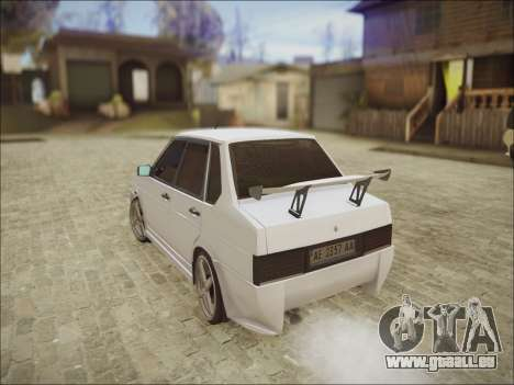 VAZ 21099 Kolxz pour GTA San Andreas vue arrière
