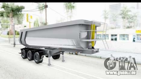 Trailer Volvo Dumper pour GTA San Andreas sur la vue arrière gauche