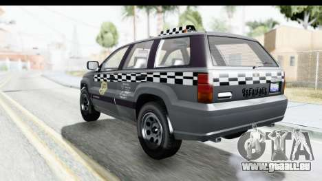 GTA 5 Canis Seminole Taxi für GTA San Andreas linke Ansicht