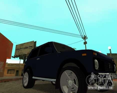 Niva 2121 Armenian pour GTA San Andreas vue arrière
