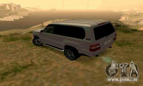 Toyota Land Cruiser 100 für GTA San Andreas zurück linke Ansicht