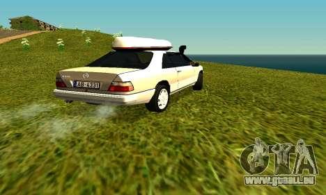 Mercedes Benz 320E pour GTA San Andreas sur la vue arrière gauche