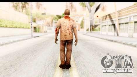 Left 4 Dead 2 - Zombie T-Shirt pour GTA San Andreas troisième écran