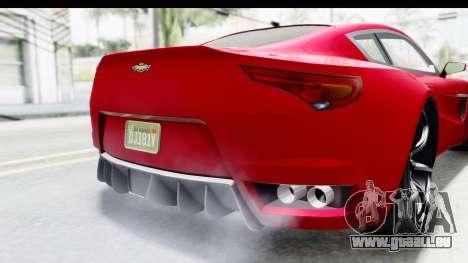 GTA 5 Dewbauchee Seven 70 IVF für GTA San Andreas Innen