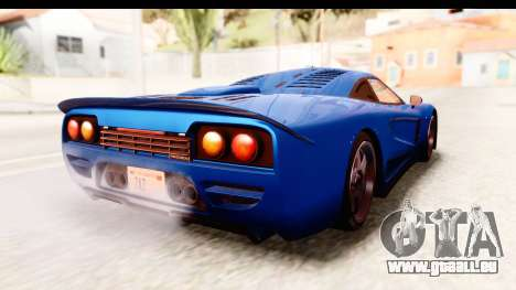 GTA 5 Progen Tyrus IVF pour GTA San Andreas sur la vue arrière gauche