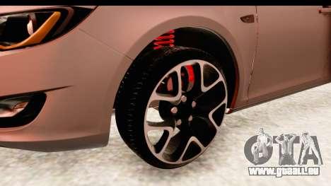 Opel Astra J Tourer für GTA San Andreas Rückansicht