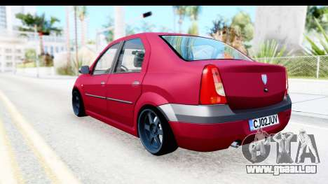 Dacia Logan Editie für GTA San Andreas linke Ansicht