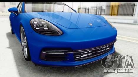 Porsche Panamera 4S 2017 v1 pour GTA San Andreas vue arrière